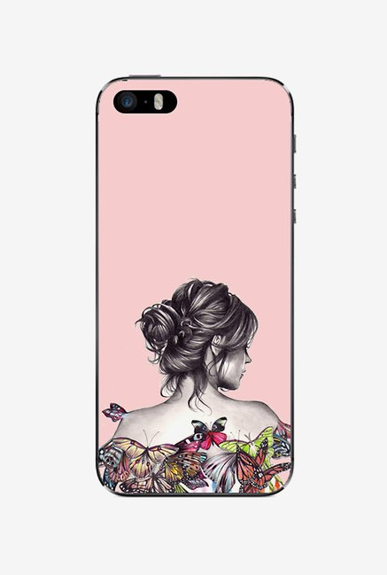 Ziddi LDYBCKBTRFLYP Hard Back Cover for iPhone 5S (Multi)