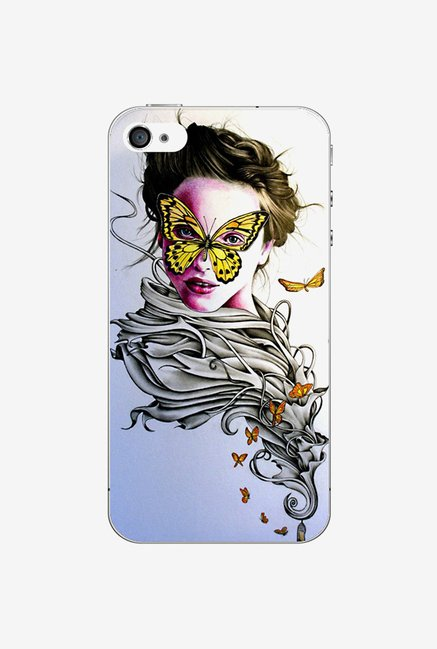 Ziddi LDYBTRFLY Hard Back Cover for iPhone 4 (Multi)