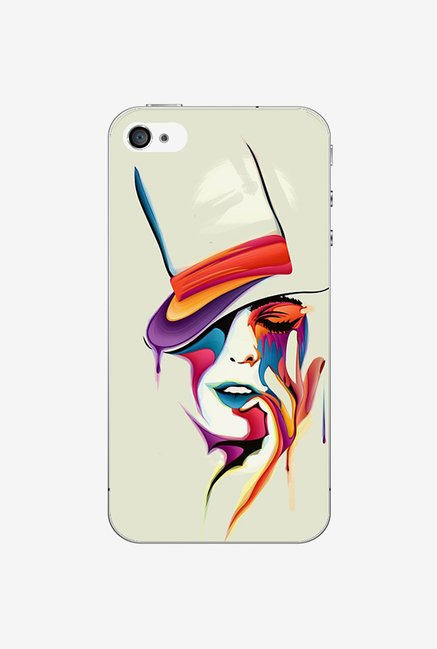 Ziddi HATLADY Hard Back Cover for iPhone 4 (Multi)
