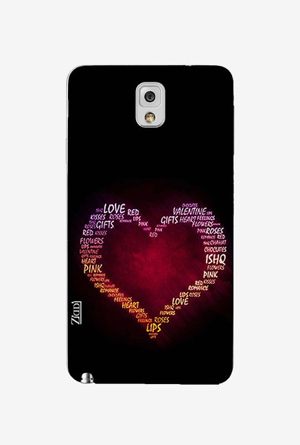 Ziddi HEART Hard Back Cover for Galaxy Note 3 (Multi)