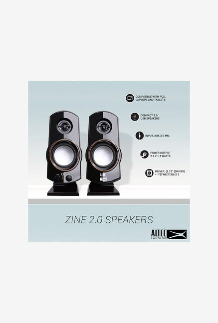 Altec Lansing Zine 2.0 Laptop/Desktop Speaker (Black)