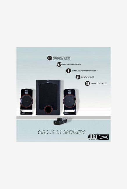 Altec Lansing Circus 2.1 Home Audio Speaker (Black)