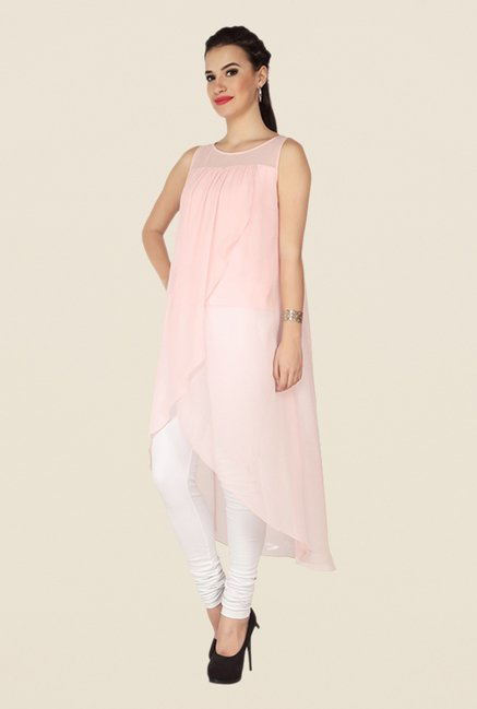 Soie Baby Pink Solid Top