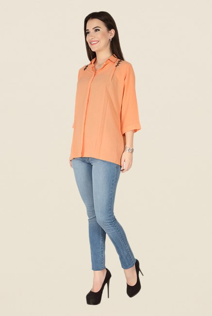 Soie Peach Solid Top