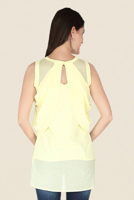 Soie Yellow Printed Top