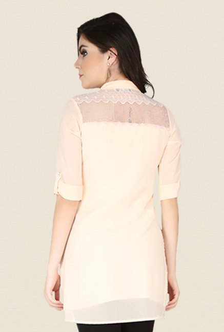 Soie Peach Lace Tunic