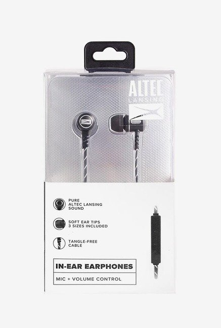 Altec Lansing MZX147 In Ear Stereo Earphone (Black)