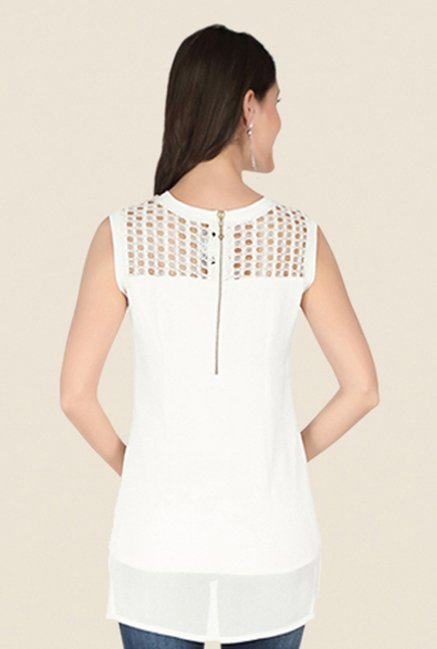 Soie Off White Lace Top
