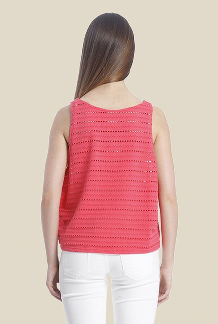 Vero Moda Coral Self Print Tank Top
