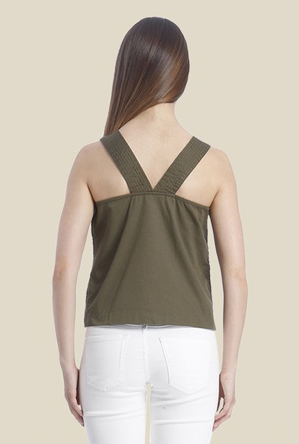 Vero Moda Olive Lace Top