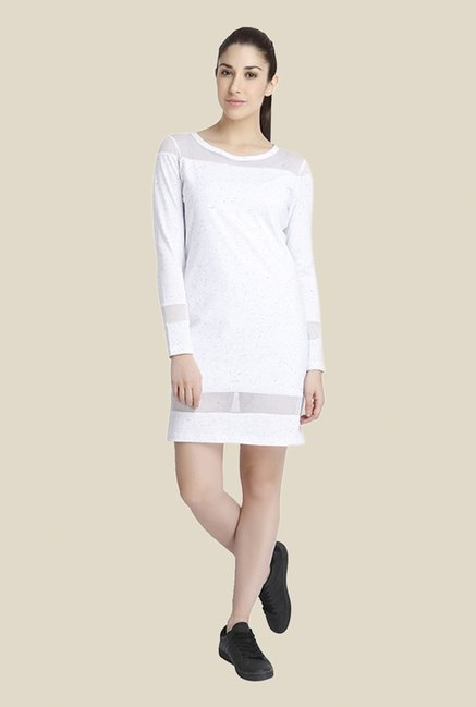 Vero Moda White Printed Dress