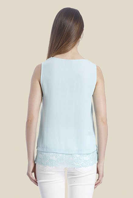 Vero Moda Sky Blue Lace Top