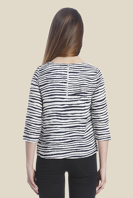 Vero Moda White & Black Striped Top