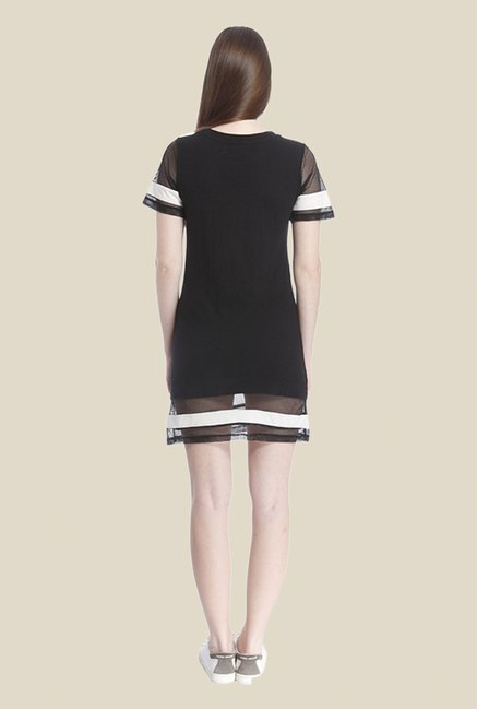 Vero Moda Black Printed Dress