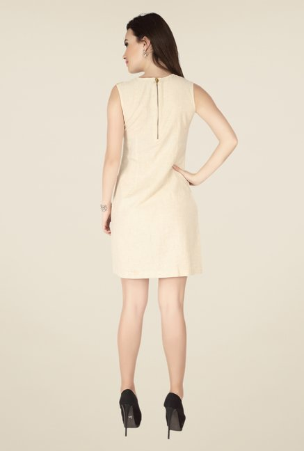 Soie Cream Embroidered Dress
