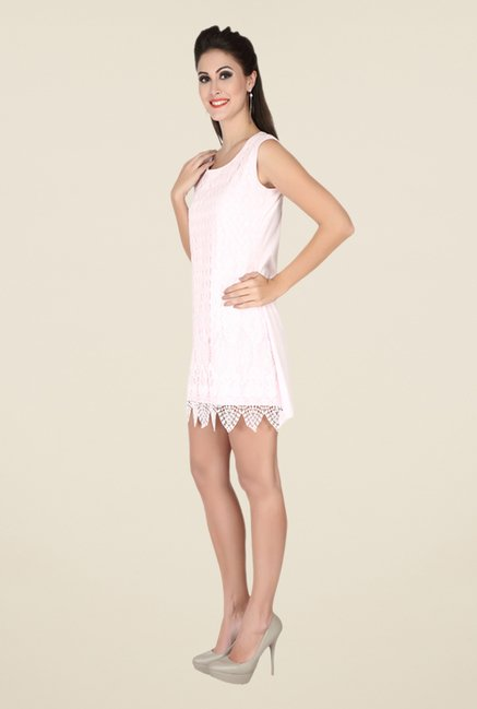 Soie Light Pink Lace Dress
