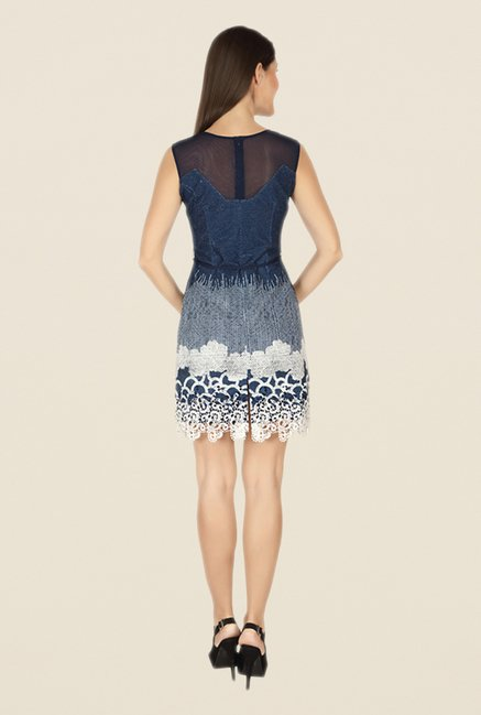 Soie Navy Lace Dress