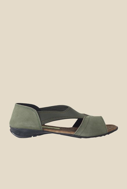 Metro Olive Green Casual Sandals