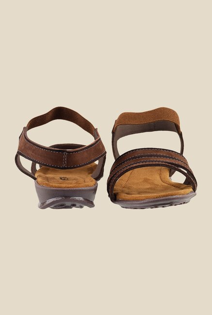 Metro Brown Sling Back Sandals