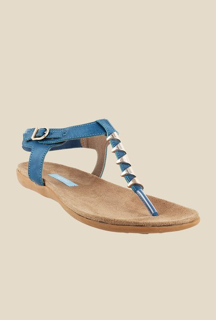 Metro Blue Ankle Strap Sandals