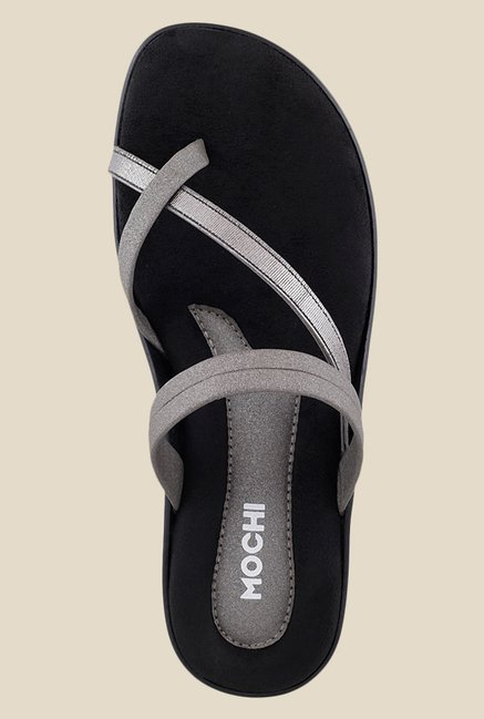 Mochi Gun Metal Casual Sandals