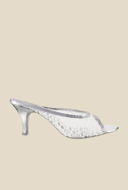 Metro Gun Metal Wedge Heeled Thong Sandals