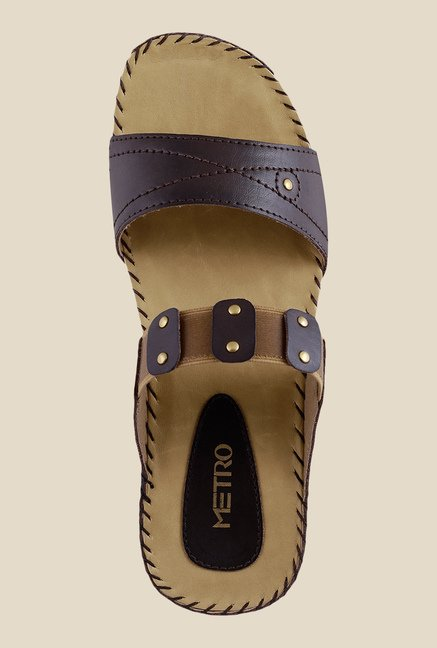 Metro Dark Brown Casual Sandals