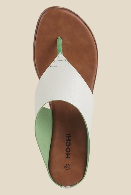 Mochi White Wedge Heeled Sandals