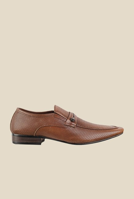 Da Vinchi by Metro Brown Formal Slip-Ons