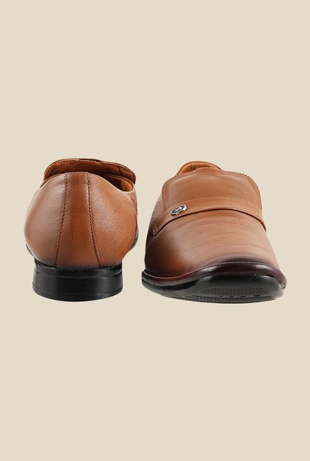 Metro Tan Formal Slip-Ons