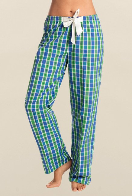 PrettySecrets Green & Cobalt Checks Pyjama