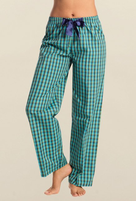 PrettySecrets Teal & Yellow Checks Pyjama