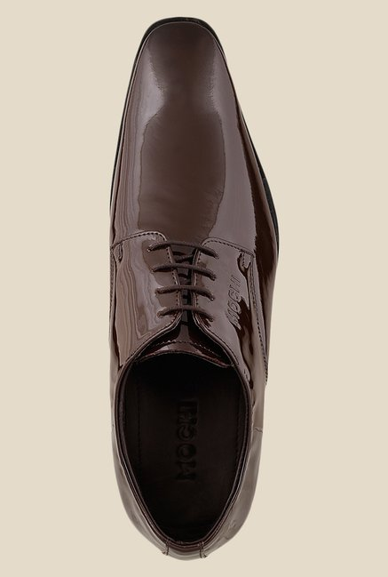 Mochi Brown Derby Shoes