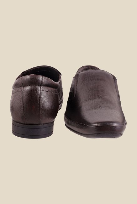 Mochi Brown Formal Slip-Ons