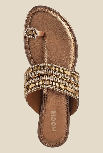 Mochi Bronze Toe Ring Sandals