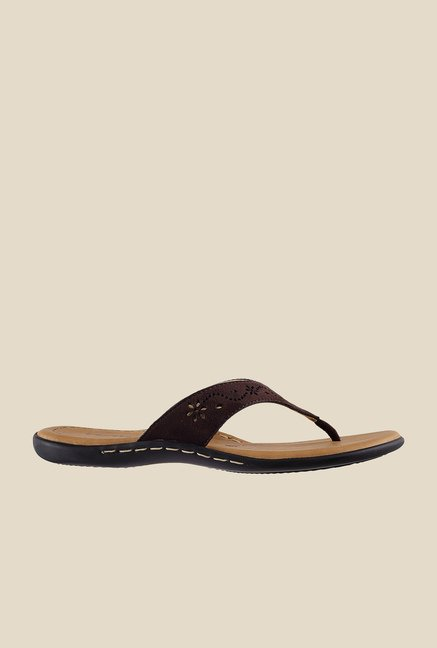 Metro Brown Thong Sandals