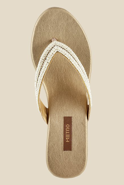 Metro Golden Wedge Sandals