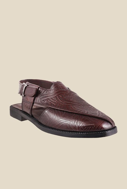 Metro Maroon Back Strap Formal Sandals