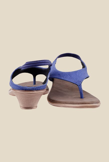 Metro Blue Sling Back Wedges