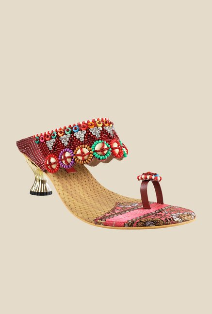 Metro Multicolor Wedge Heeled Thong Sandals