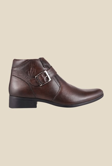 Metro Brown Monk Boots