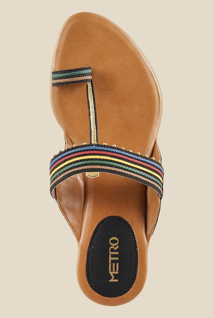 Metro Multicolour Toe Ring Sandals