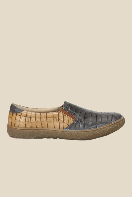 Knotty Derby Katie Grey & Tan Plimsolls
