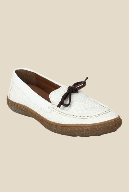Knotty Derby Katie White Moccasins
