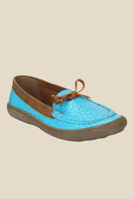 Knotty Derby Katie Blue & Brown Moccasins