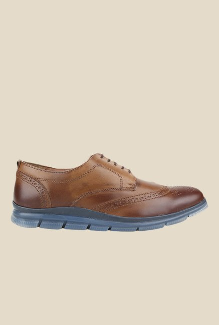 Knotty Derby Johnson Tan & Brown Derby Shoes