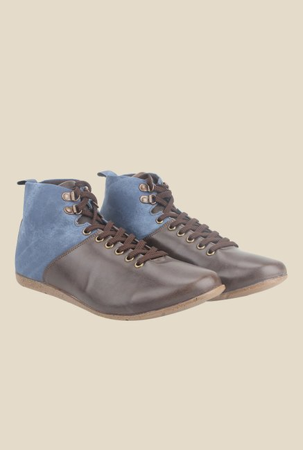 Knotty Derby Thomas Brown & Blue Casual Shoes