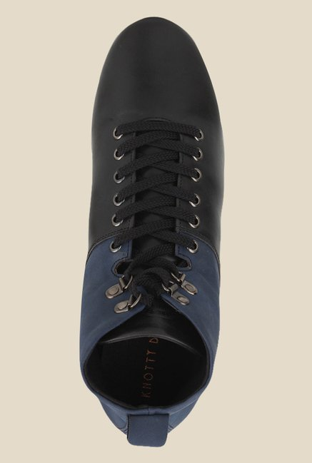 Knotty Derby Thomas Black & Blue Casual Shoes