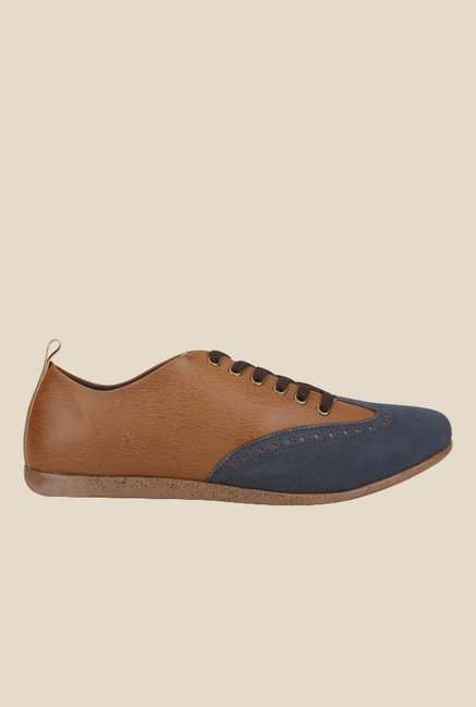 Knotty Derby Thomas Tan & Navy Casual Shoes