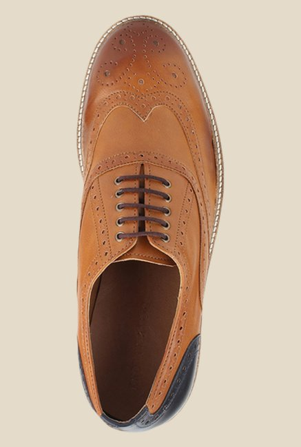 Knotty Derby Burbage Tan Brogue Shoes